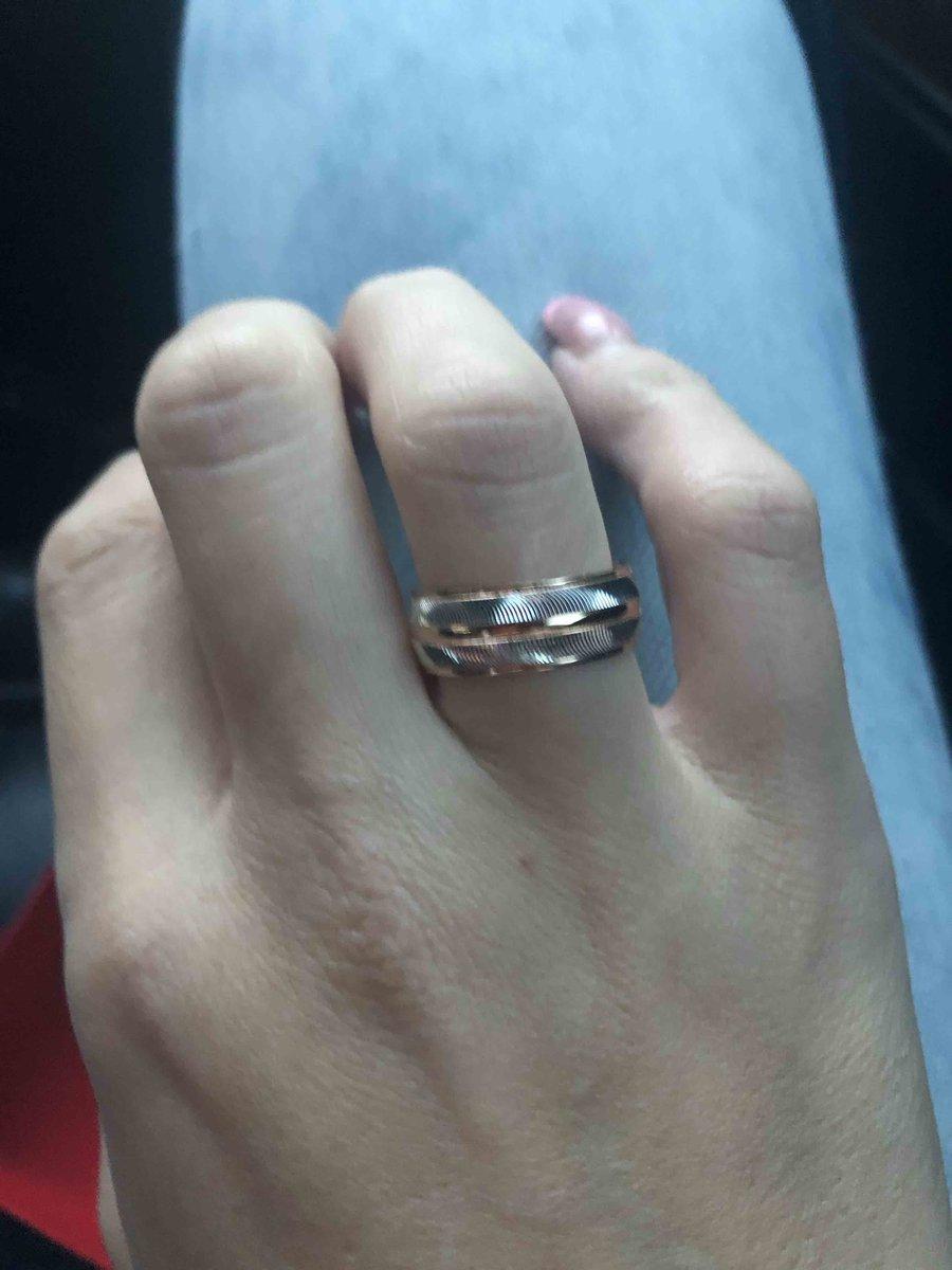 Зотолое обручальное кольцо