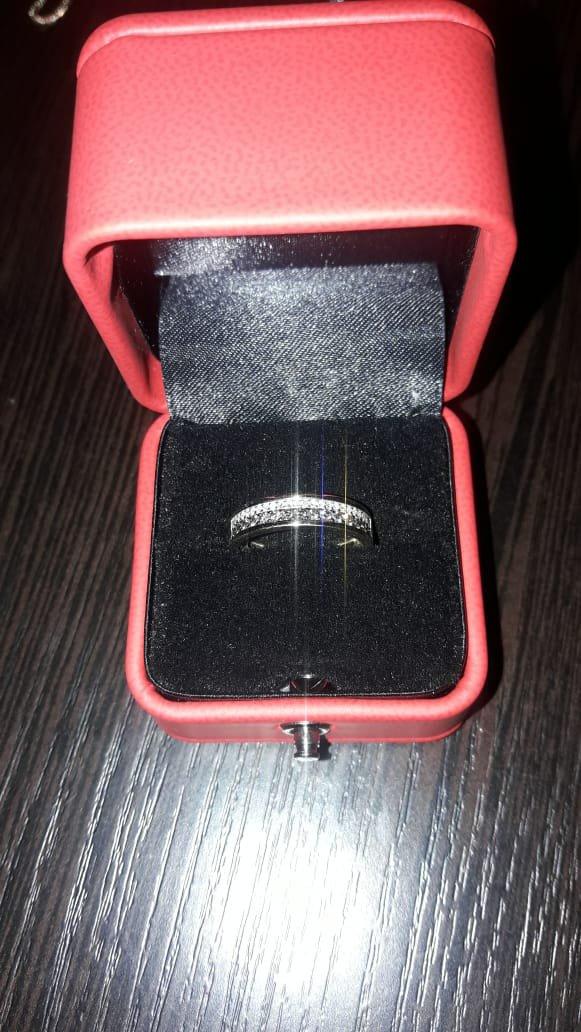 Колечко с россыпью из бриллиантов