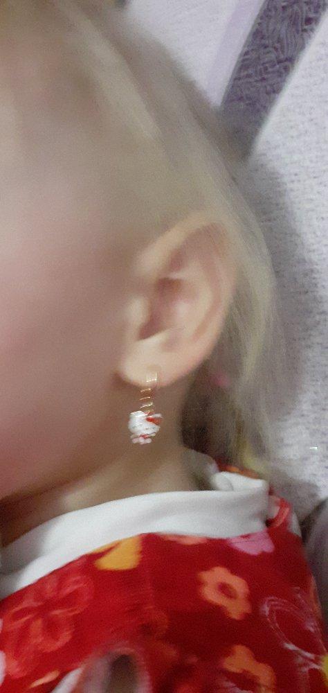 Серебрянные серьги для детей