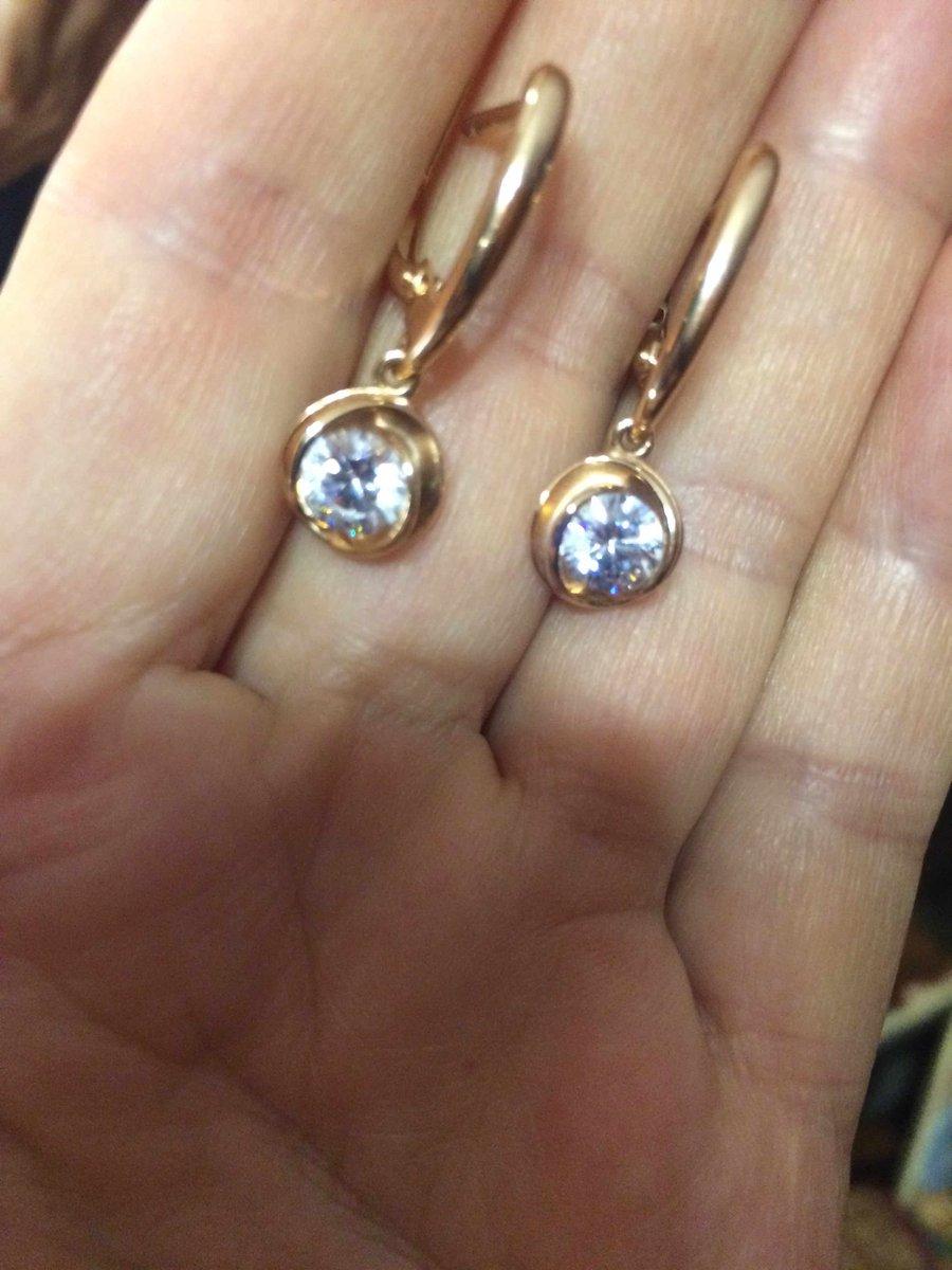 Отличные серебрянные серьги с позолотой