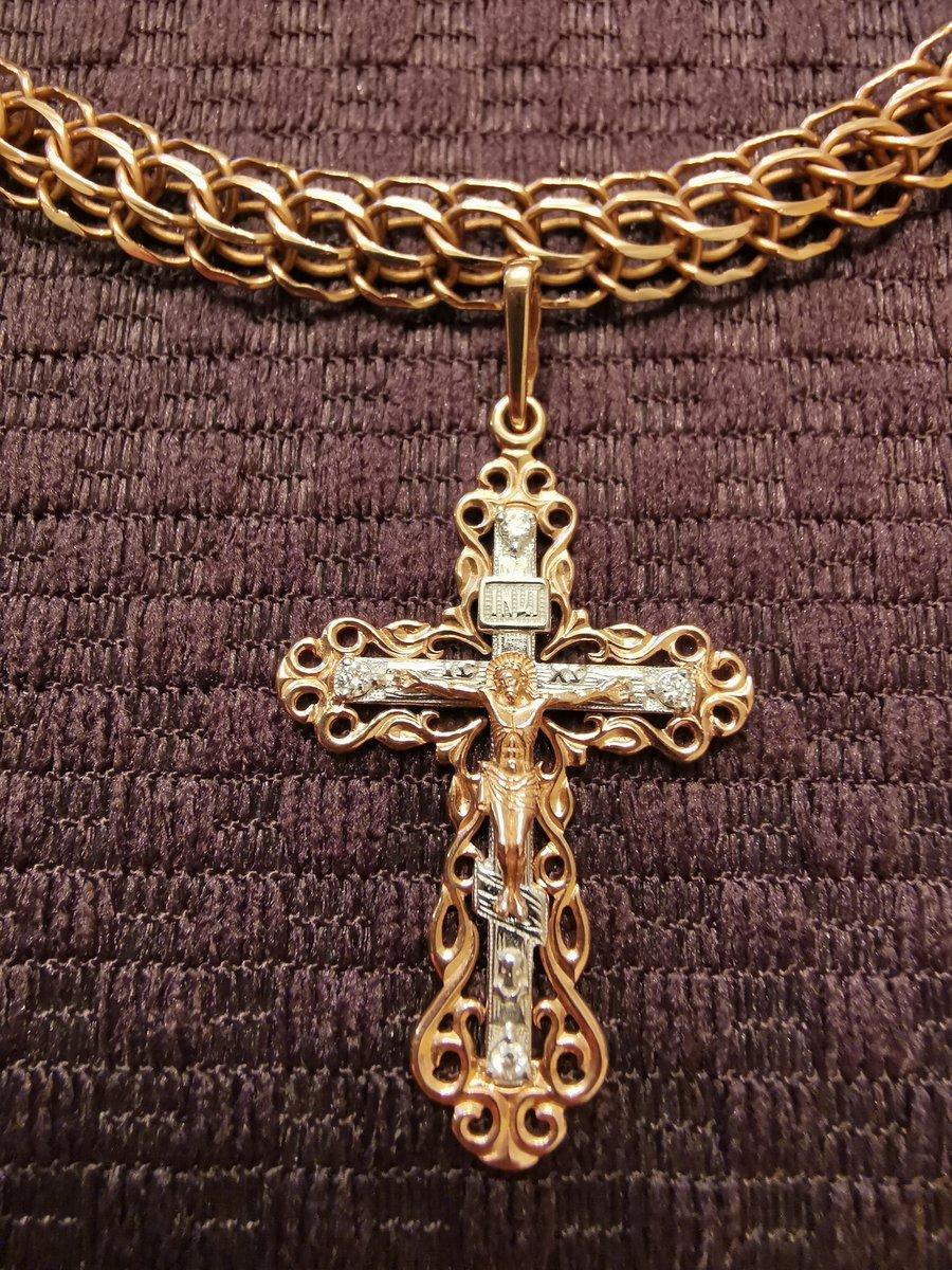 Очень красивый крестик с брюликами 😍🥰