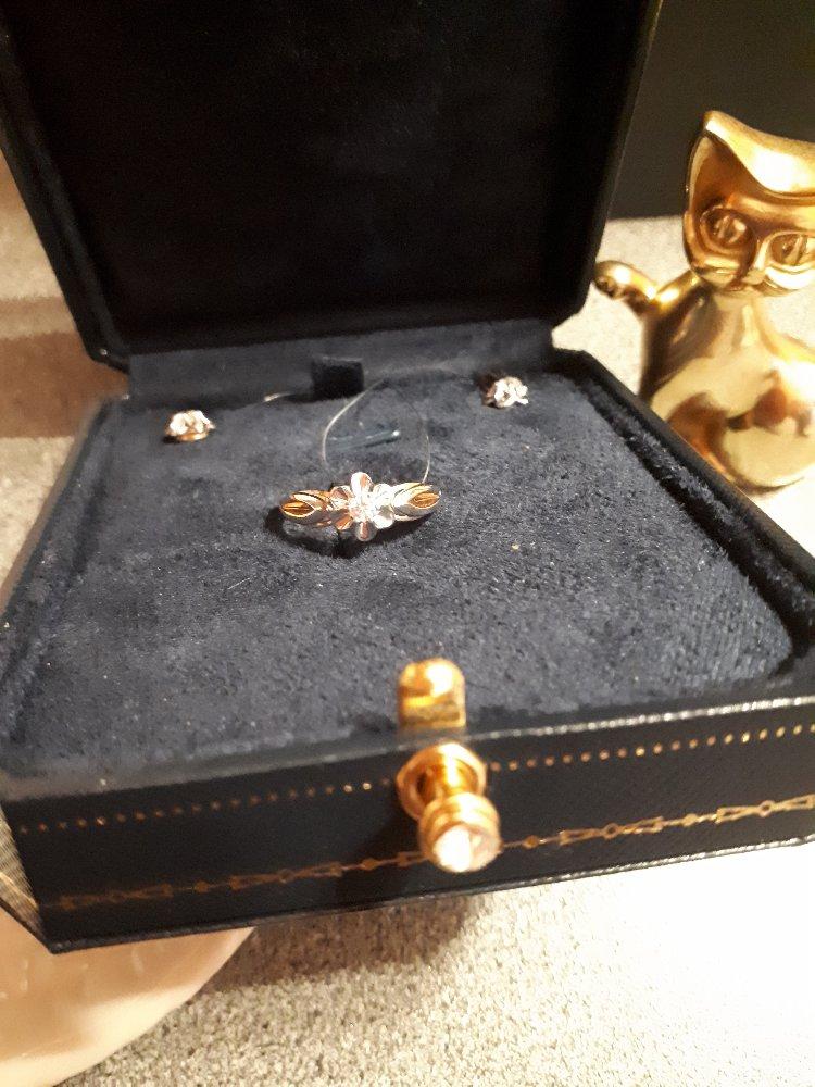 """Золотое кольцо с бриллиантами """"бриллианты якутии""""-роскошь и элегантность!!!"""