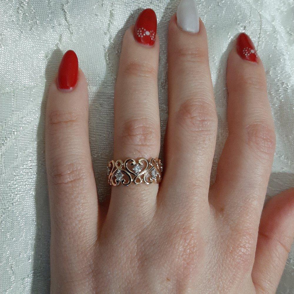 Ажурное кольцо с феанитами