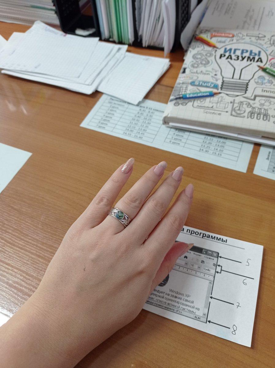 Кольцо с ракушкой