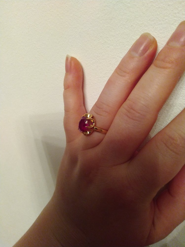 Золотое кольцо с рубином 2.97ct