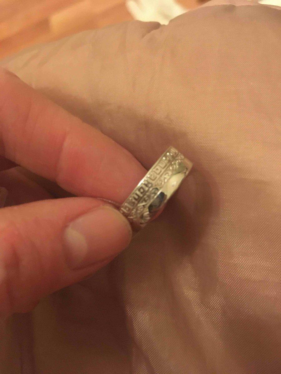 Серебрянное кольцо религиозное