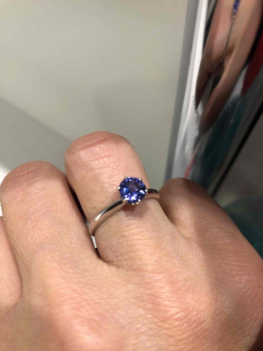 Кольцо с танзанитом- моя мечта на новый год