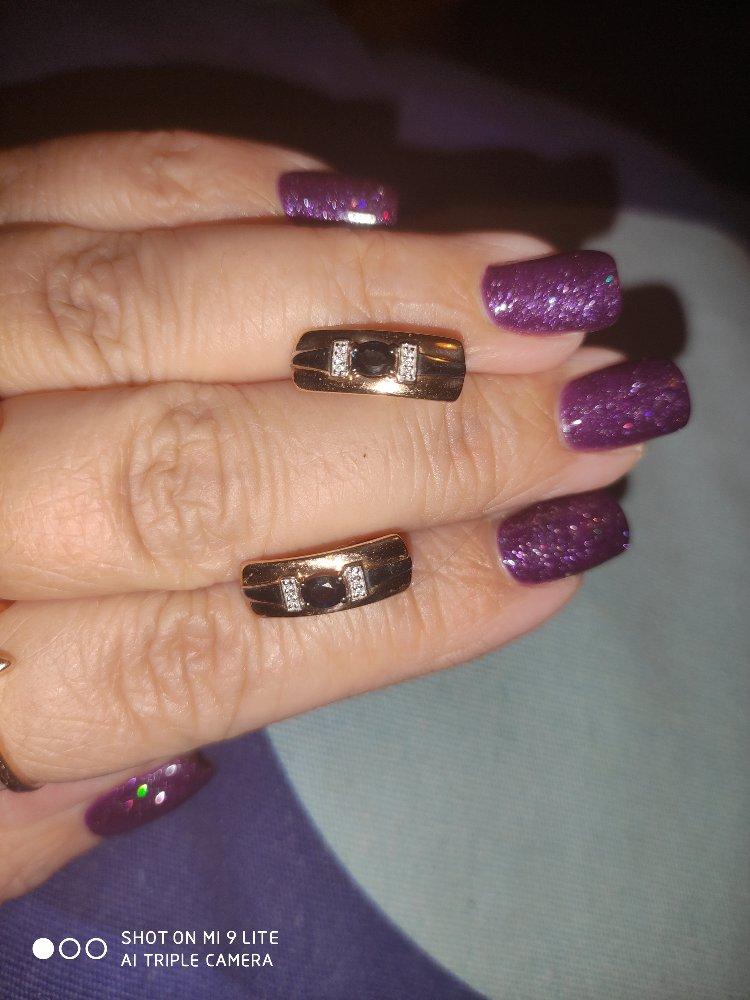 Серьги с бриллиантами и сапфирами.