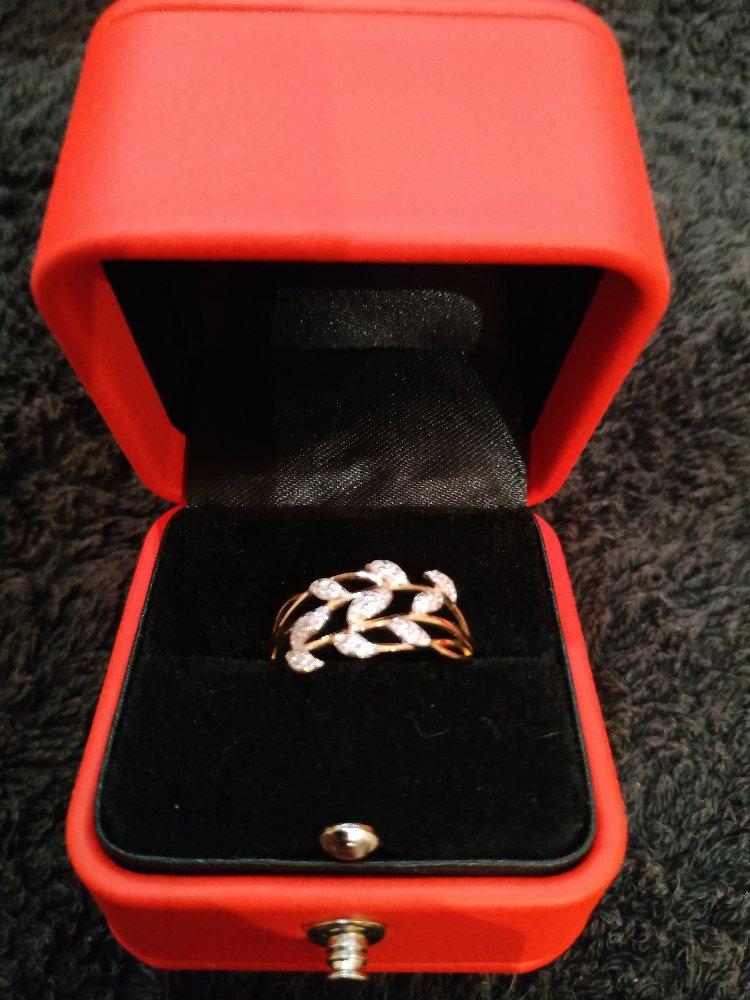 Кольцо золотая веточка