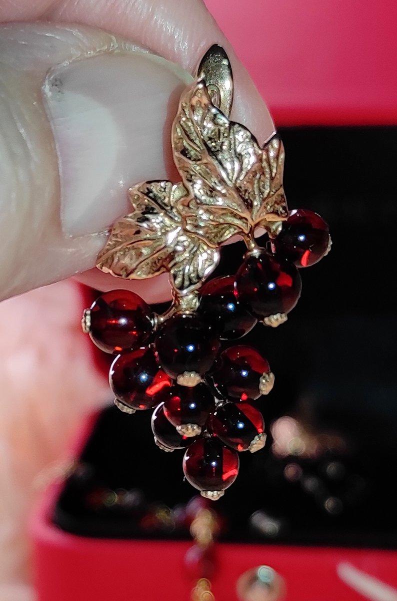 Серьги с янтарем,, виноградная гроздь,,