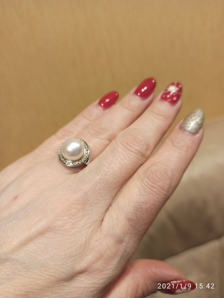 Кольцо с жемчугом. оно прекрасно