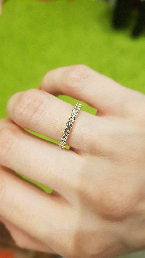 Кольцо с 11 бриллиантами, 15 размер