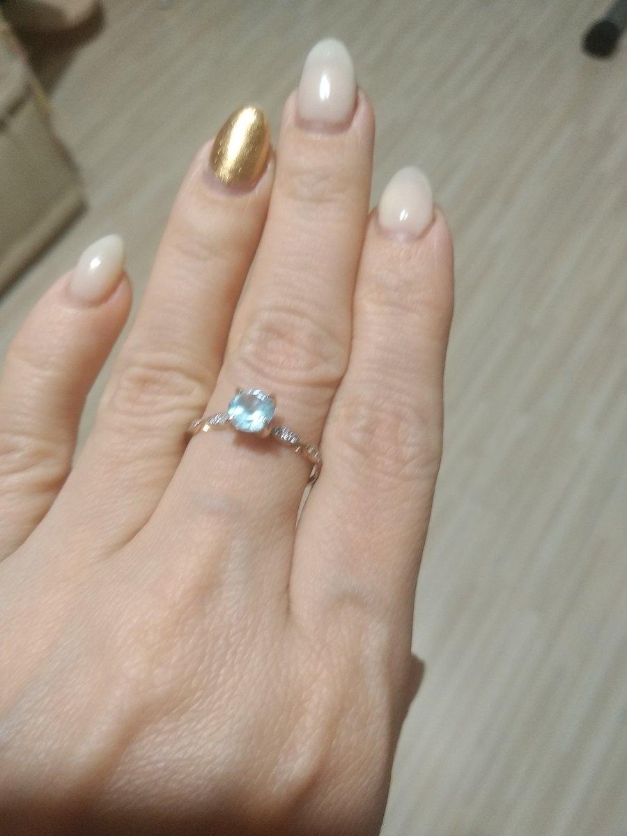 Первое кольцо с топазом!