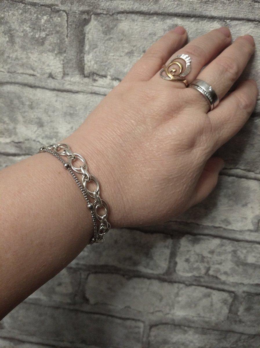 Серебряный объемный браслет!!