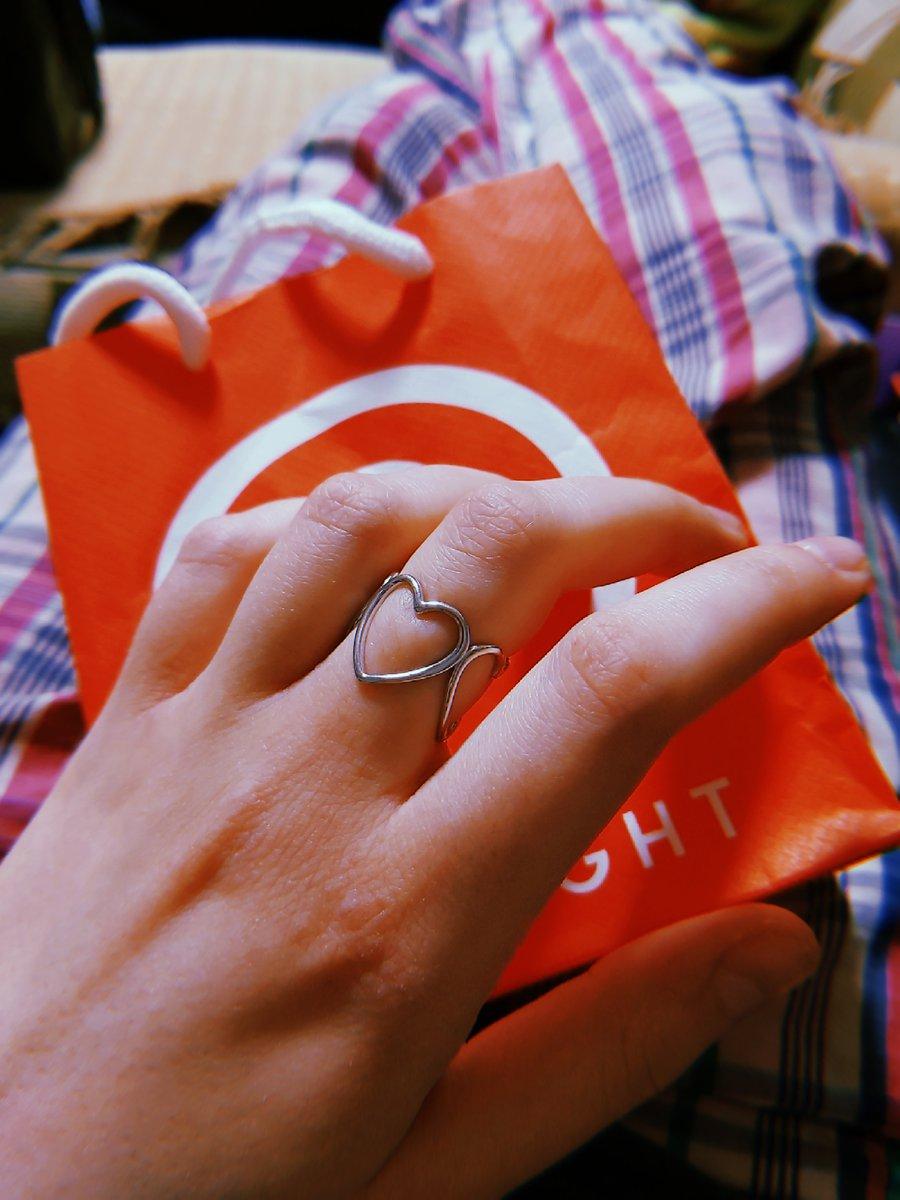 Серебряное кольцо с сердечками