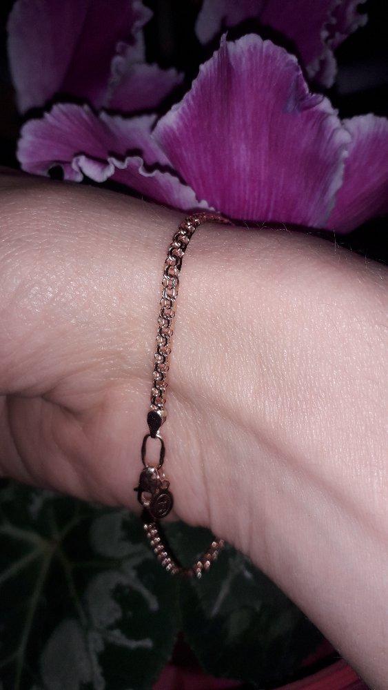 Золотой браслет из санлайт
