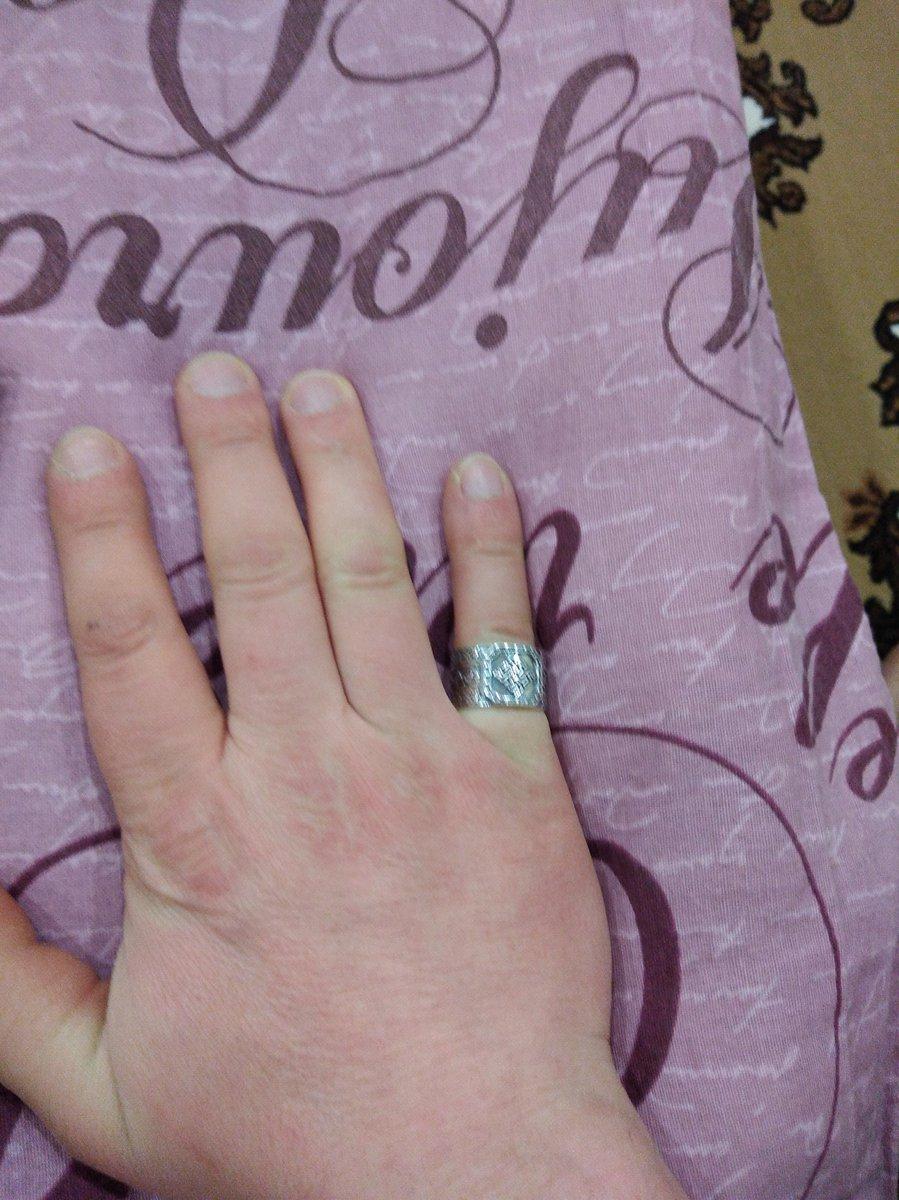 Оберёг кольцо, 19размер оказался маловат.