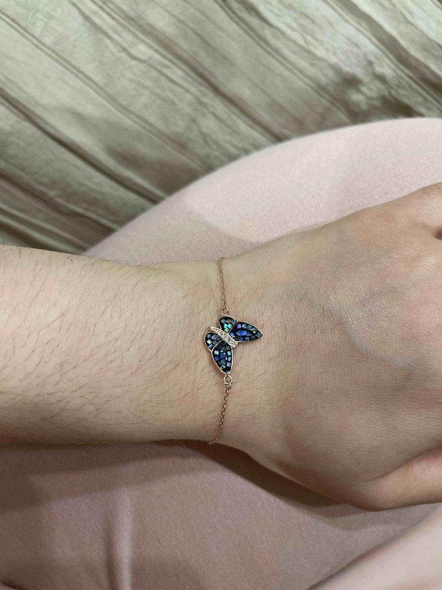 Браслет с бабочкой.