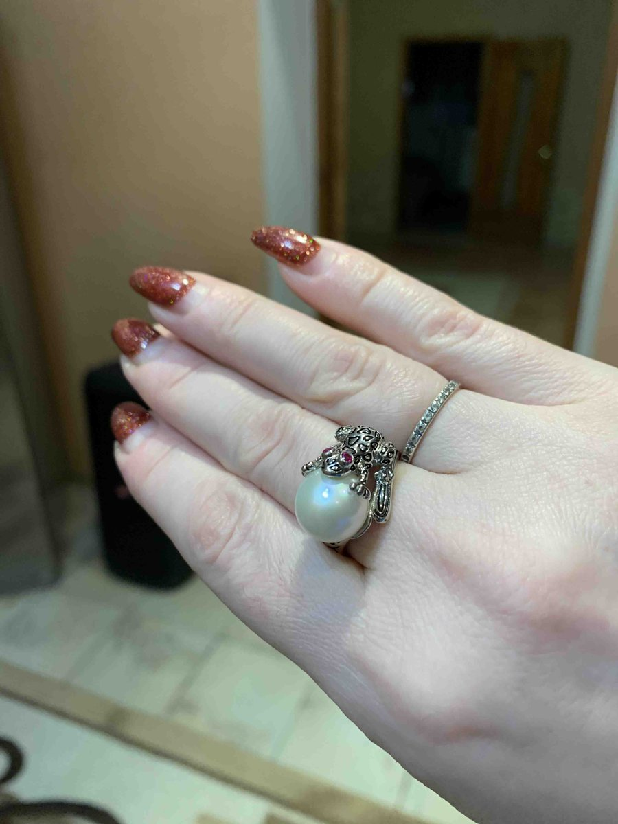 Кольцо с лягушкой