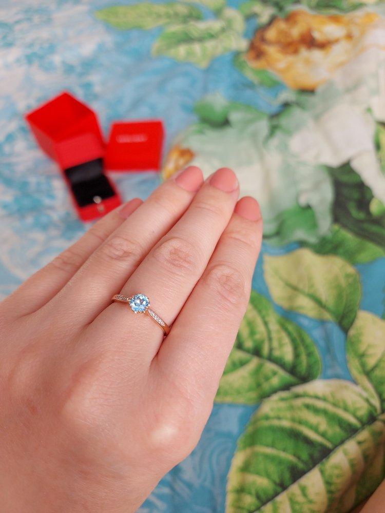 Кольцо с топазом и бриллиантами-само очарование