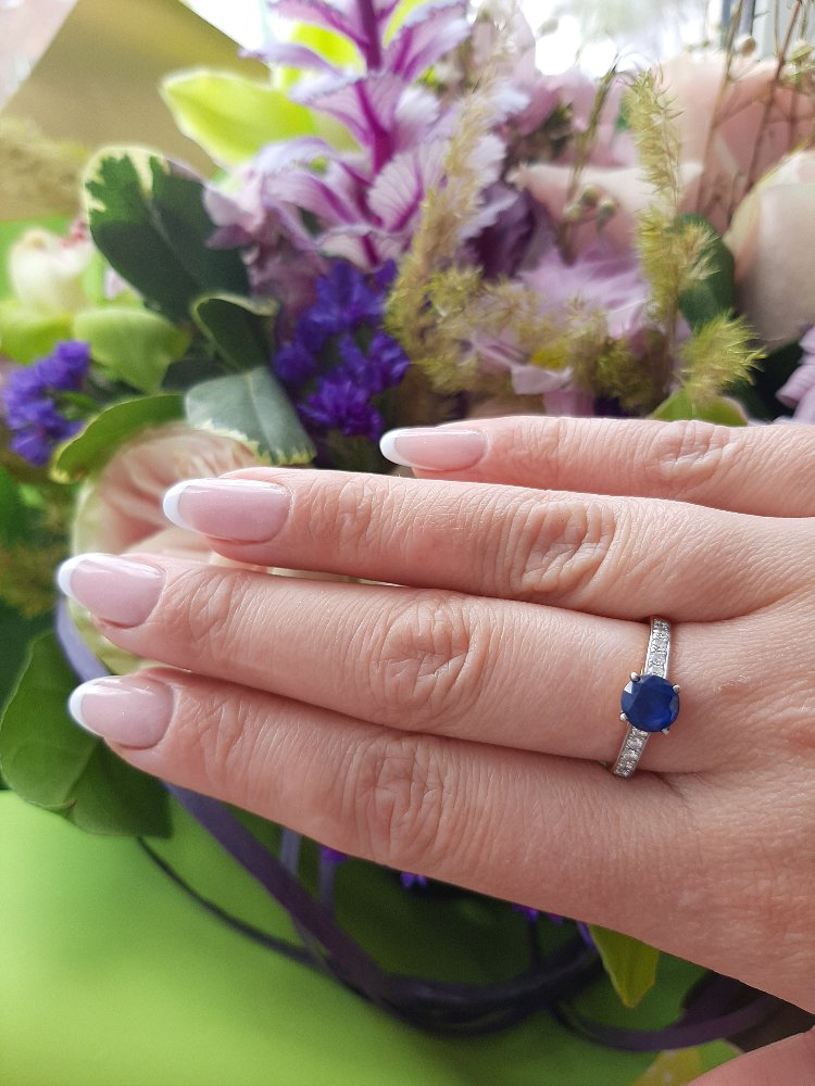 Кольцо с сапфиром и бриллиантами (+много фото)