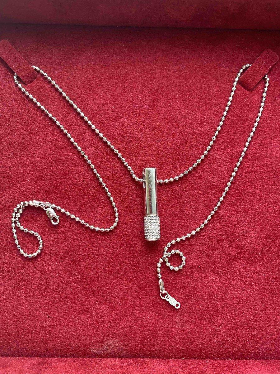 Серебряная цепочка 55 см.