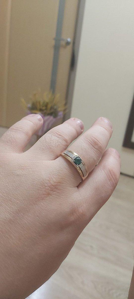 Мужское кольцо с фианитам
