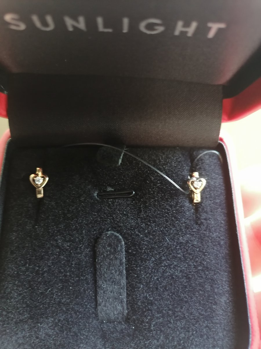 Золотые серьги с фианитами!