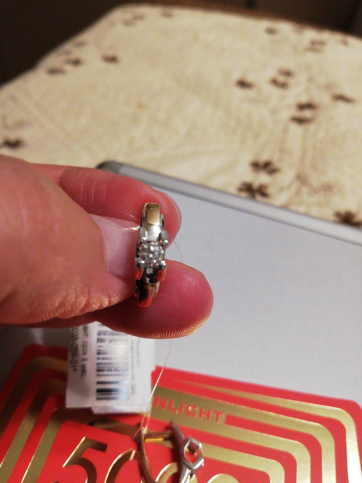 Серьги с бриллиантами из красного и белого золота