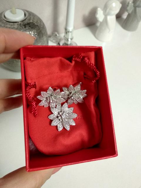 Кулон серебряный цветок