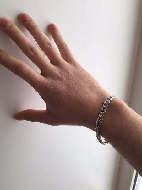 Отличный мужской браслет из серебра!
