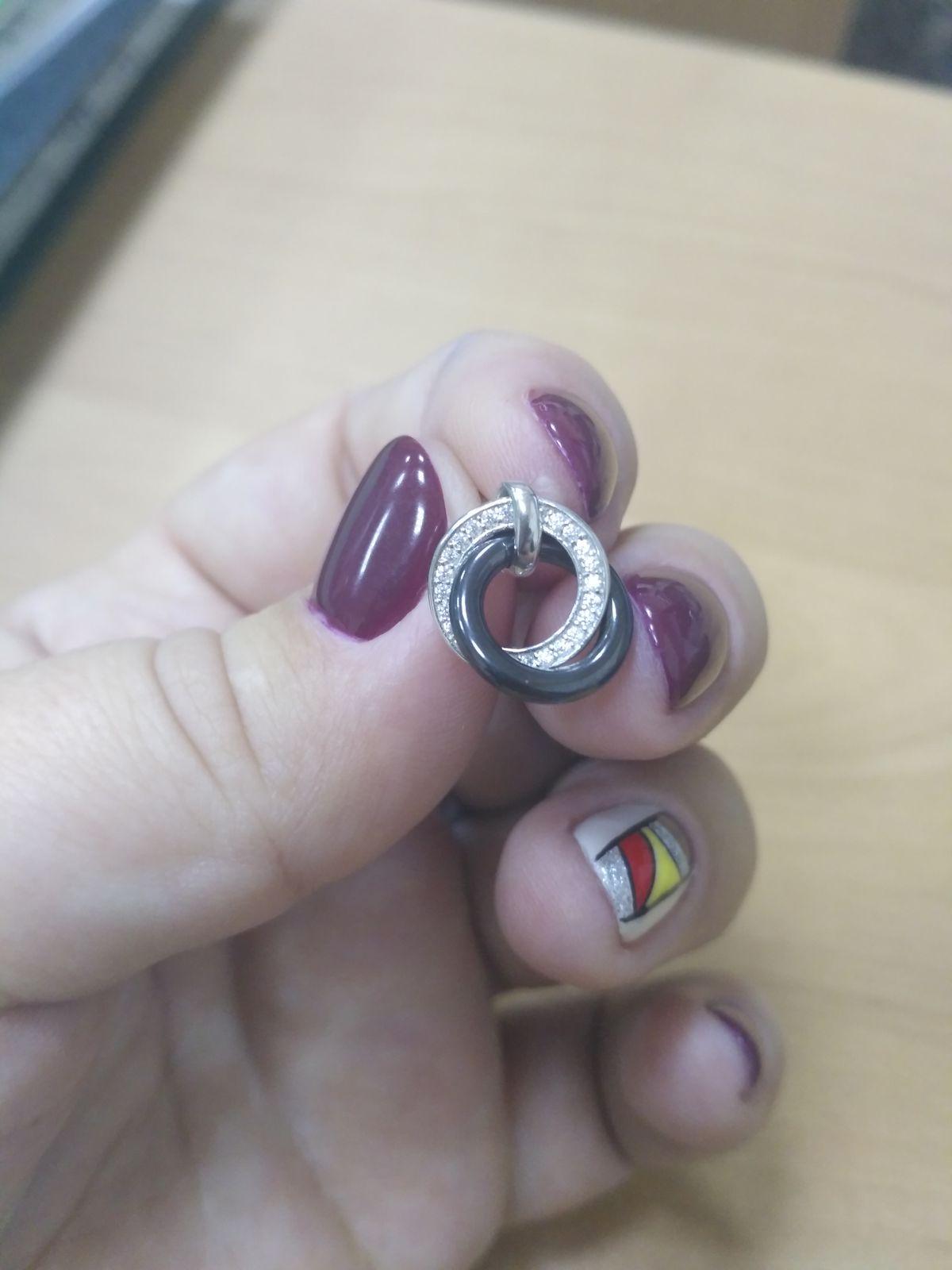 Серьги серебро с керамикой