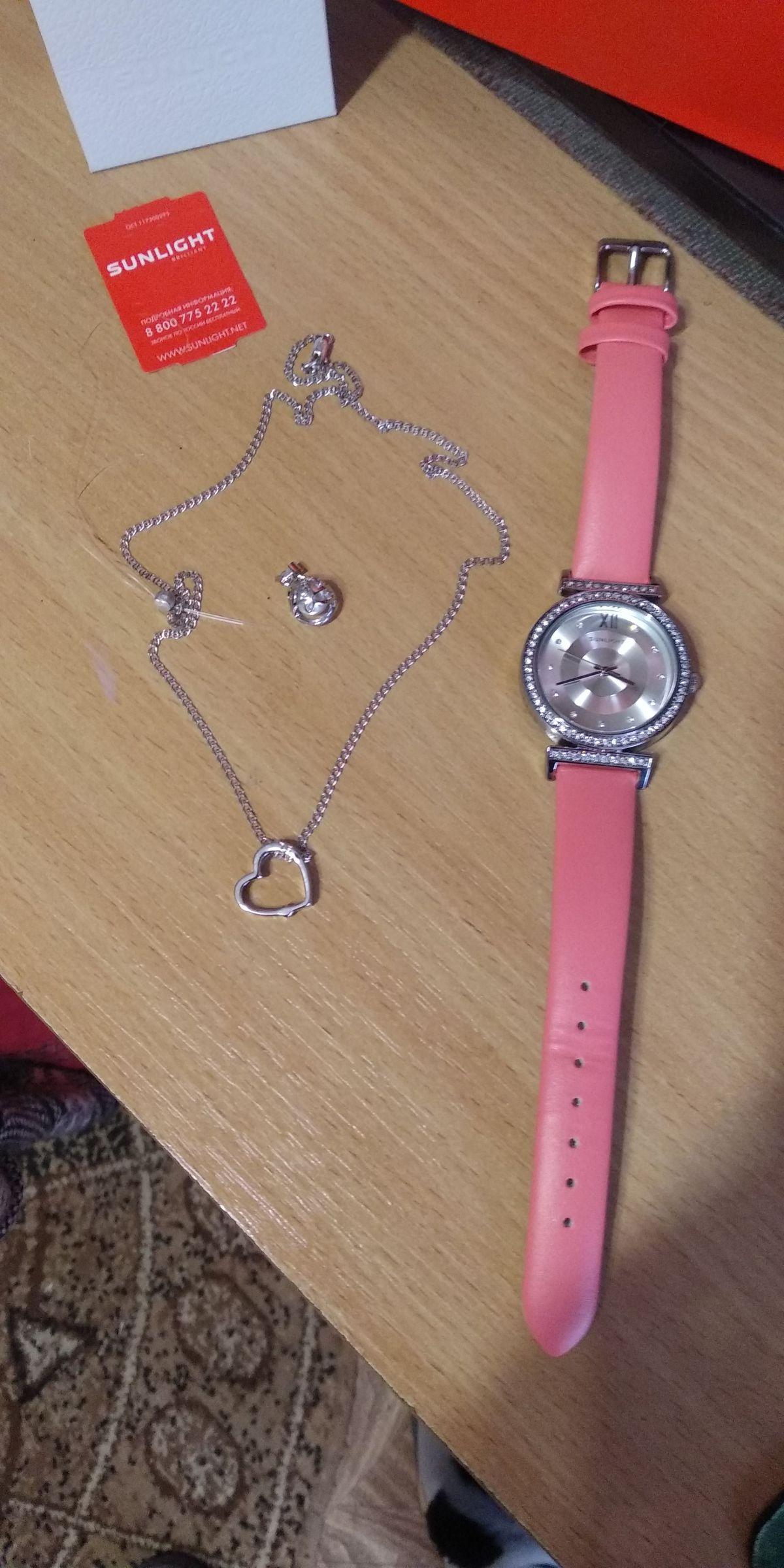 Часы женские, кварцевые с розовым ремешком