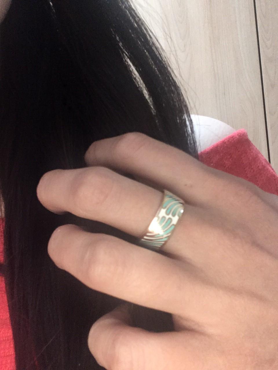 Кольцо серебро позолоченное с эмалью