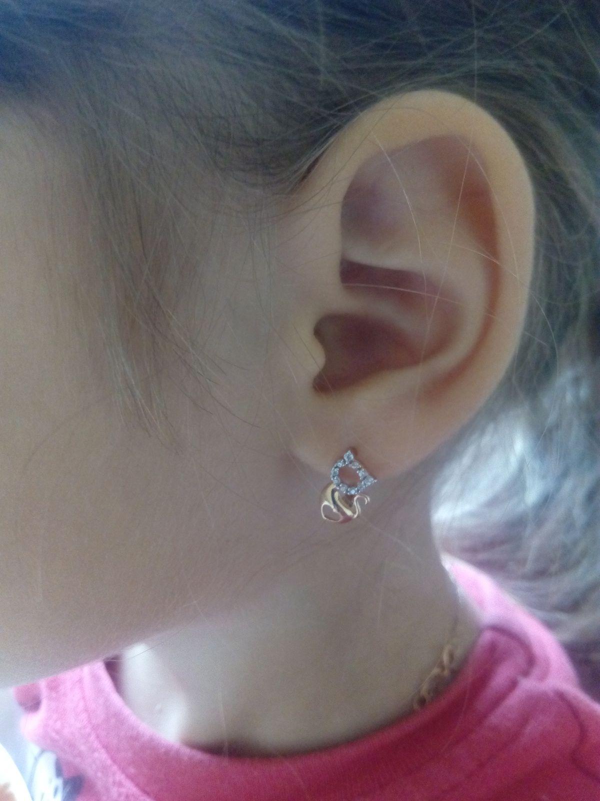 Милые сережки для дочки 4 года