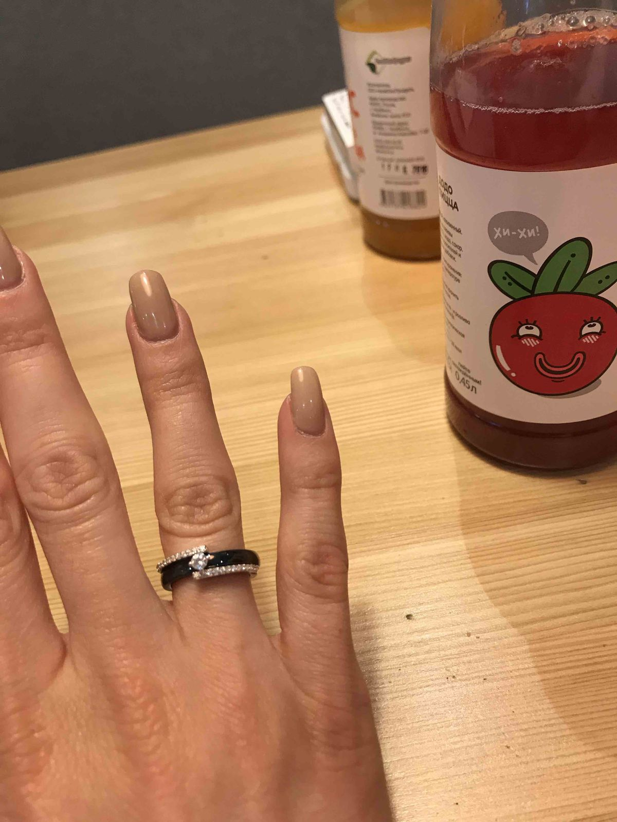 Красивое черное кольцо на каждый день