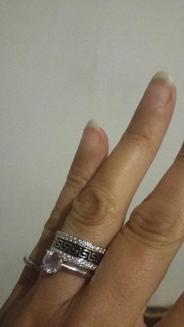 Двойное кольцо из серебра.