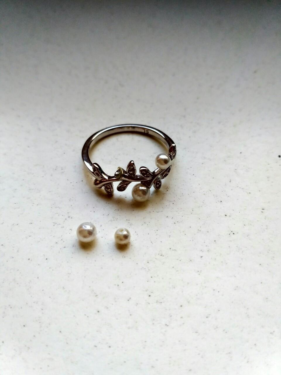 Кольцо серебро с жемчугом