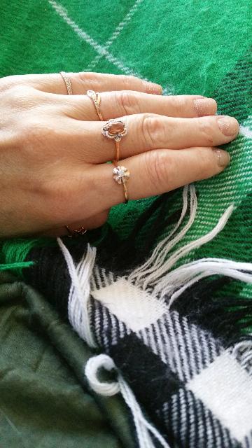 Кольцо с султанитом и бриллиантами