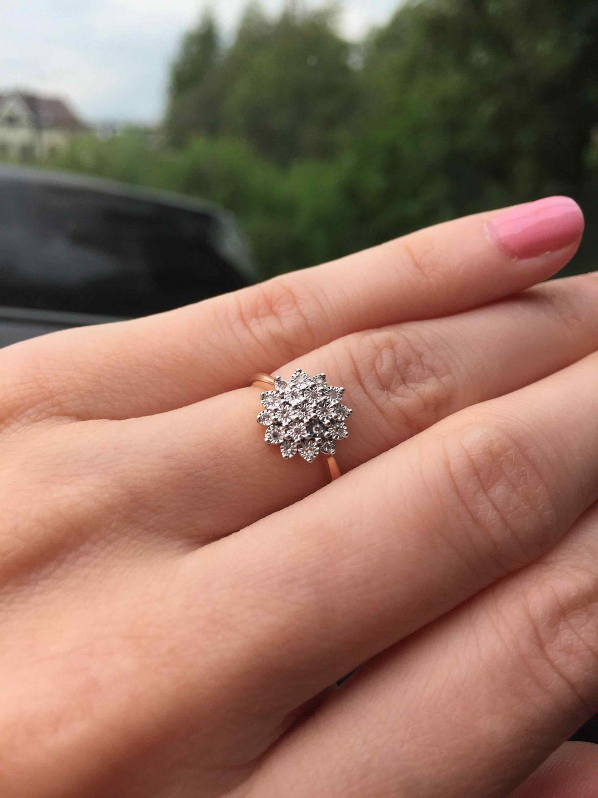 Бриллиантовая шапочка на пальчик