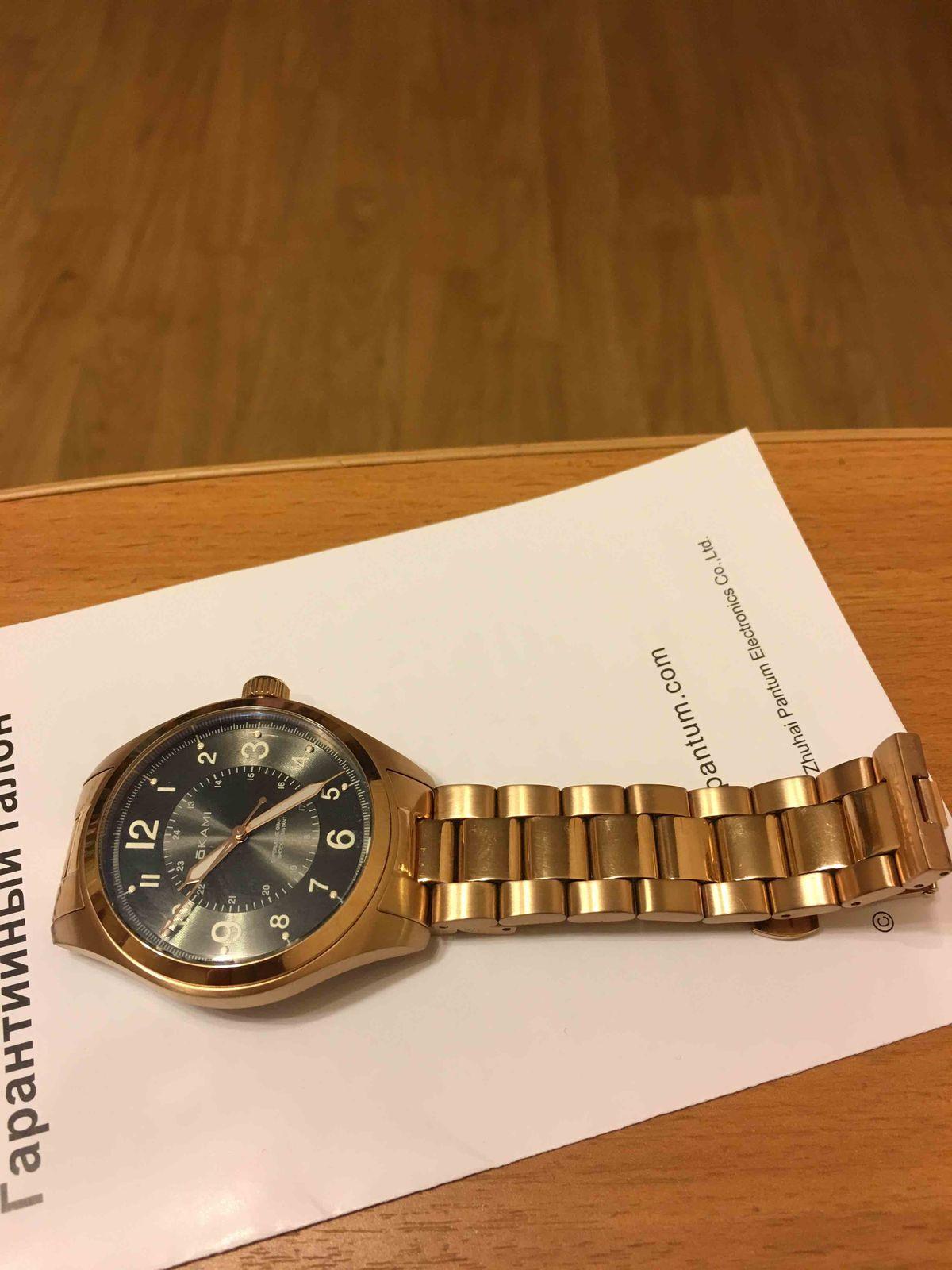 """Часы мужские на стальном браслете фирмы """"Okami"""""""