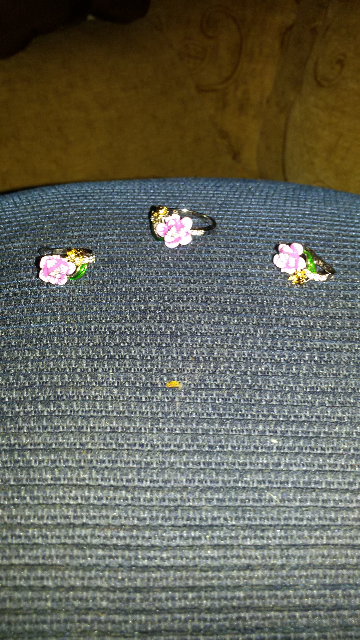 Серебряные серьги с эмалью, фианитами и пчелкой