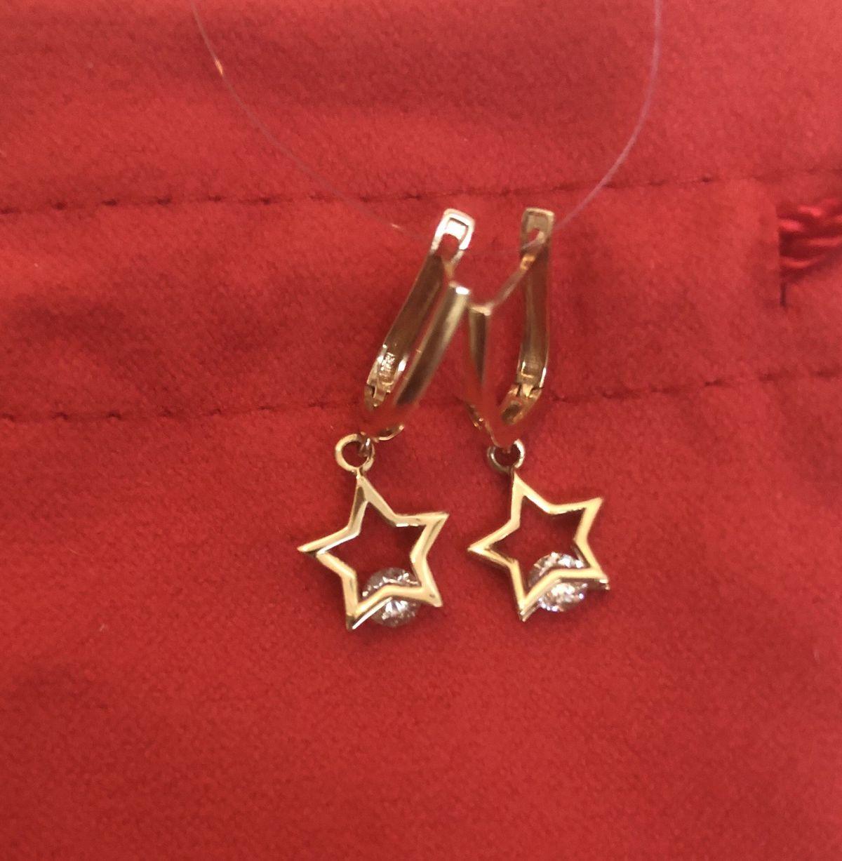 Серьги-звёздочки