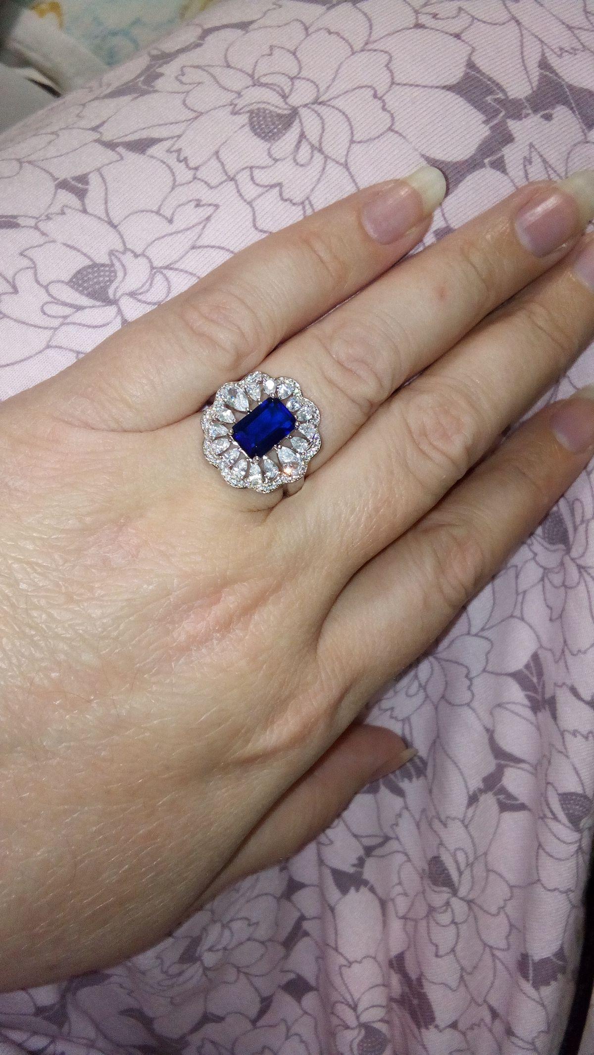 Шикарный перстень с синим алпанитом