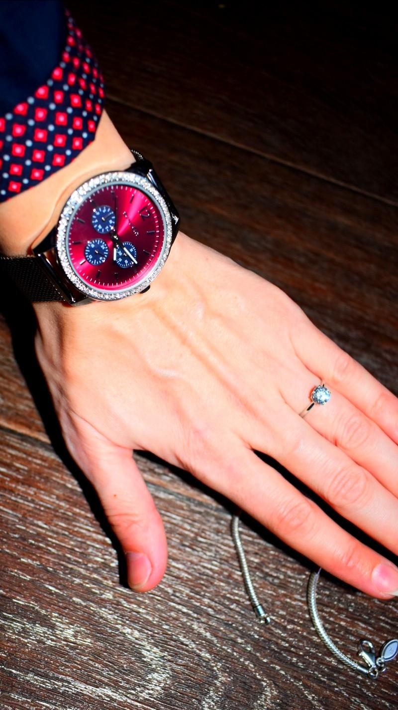 Кольцо, часы и браслет