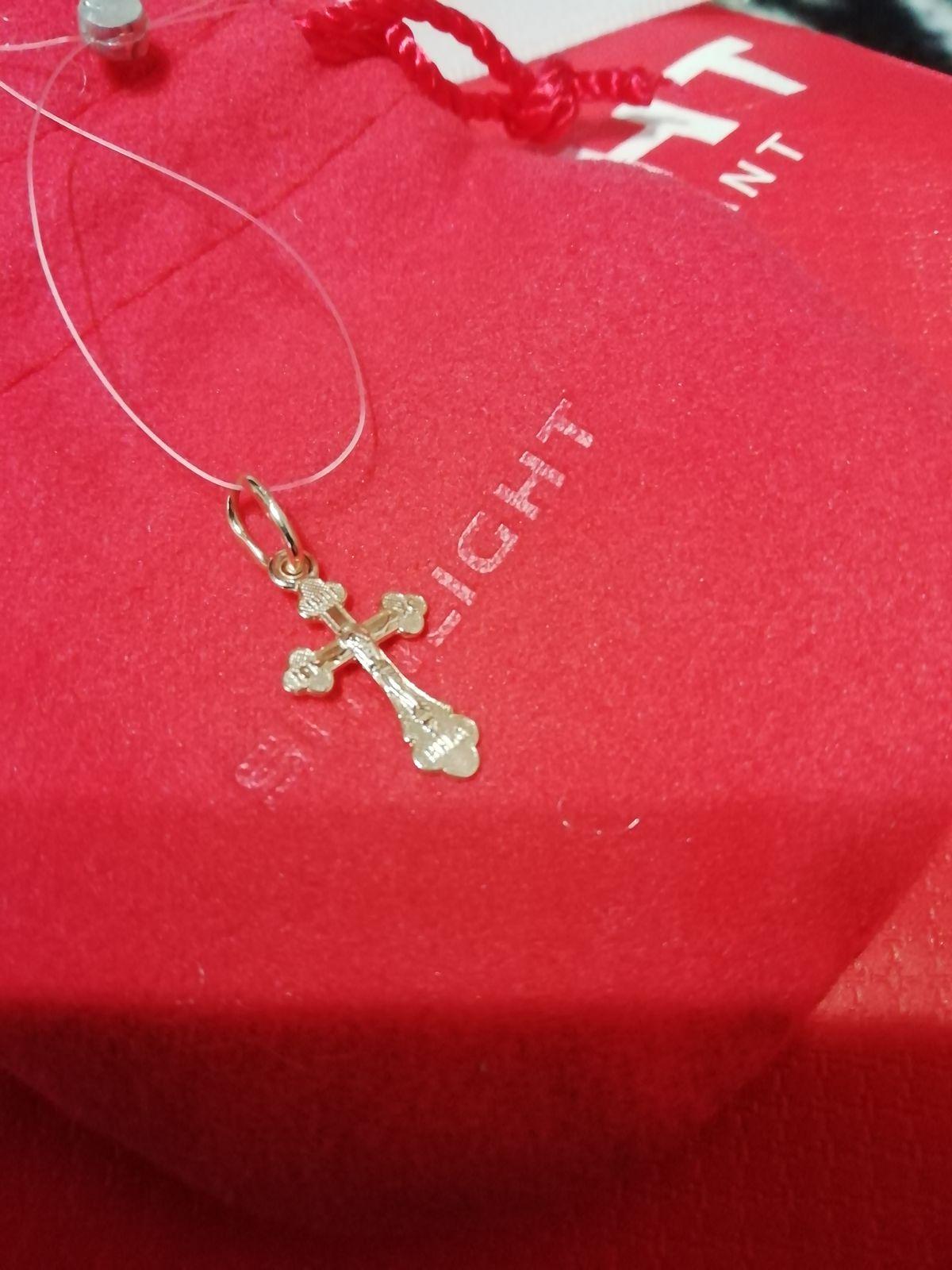 Крестик для крестин детский