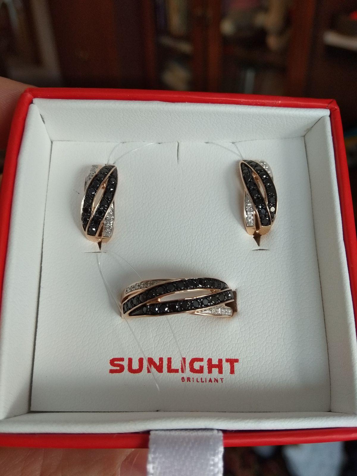 Стильные серьги с черными бриллиантами