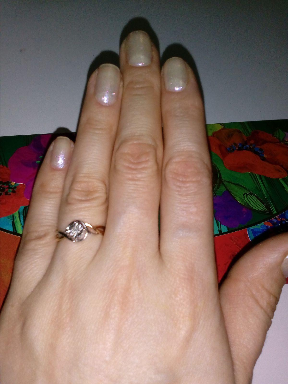 Кольцо из белого и розового золота