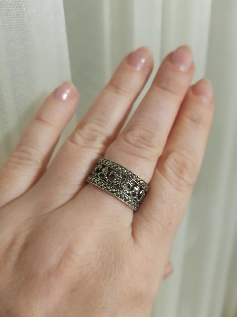 Серебряное винтажное кольцо