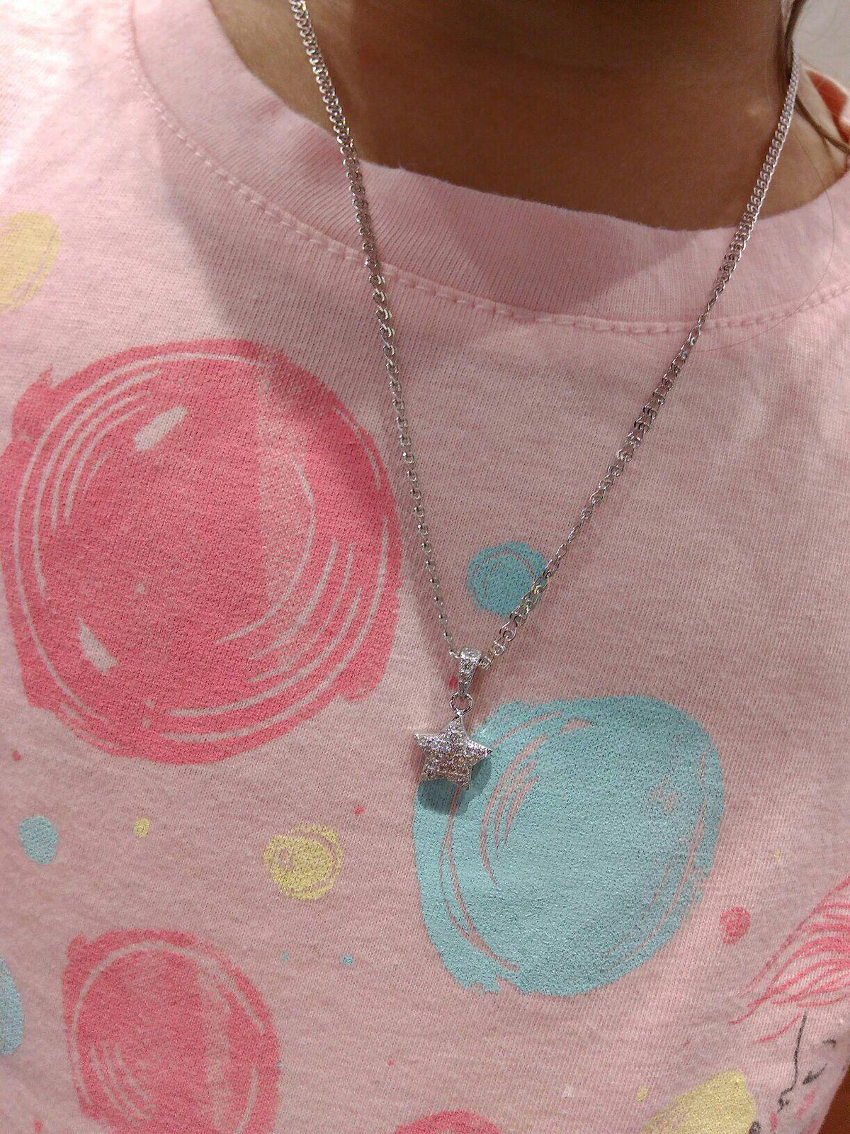 Серебряная подвеска- звездочка